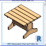 revit families | Adirondack Chair and Table .rfa | 56 Several 7
