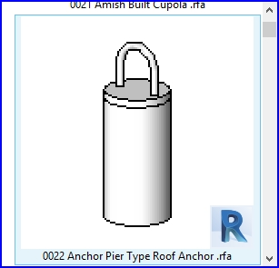 revit families | Anchor Pier Type Roof Anchor  rfa | 56