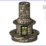 revit families | Circular Stone Fire Place () .rfa | 56 Several 106