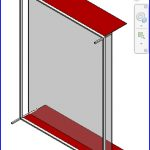 revit families | cw horizontal curtain wall with horizontal panel on it .rfa | 56 Several 218