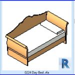 revit families | Day Bed .rfa | 56 Several 224