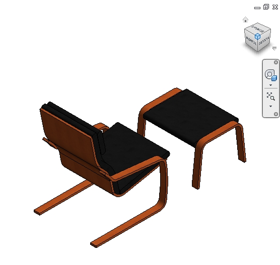 Brilliant Revit Families Ikea Poang Chair And Stool Rfa 56 Ibusinesslaw Wood Chair Design Ideas Ibusinesslaworg