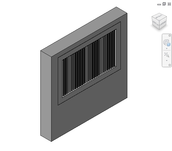revit families | Louvre Vertical Fins  rfa | 56 Several 500