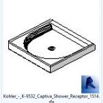 revit families | Kohler  K Captiva Shower Receptor.rfa | 02 Bath 56