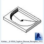 revit families | Kohler  K Captiva Shower Receptor model 3.rfa | 02 Bath 58