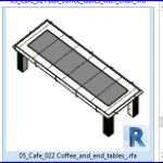 revit families | Coffee and end tables .rf | 05 Cafe 22