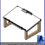 revit families | drafting table with light .rf | 12 Study 7