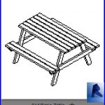 revit families | Picnic Table .rf | 17 Pool Furniture 14