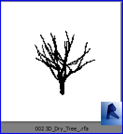 revit families | 3D Dry Tree  rf | 22 Plants 2 - Architecture