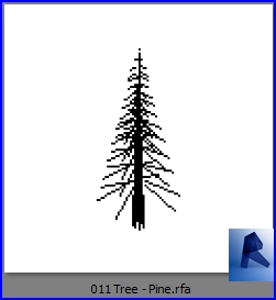 revit families | Tree Pine rf | 22 Plants 11 - Architecture