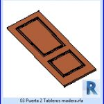 revit families | Puerta 2 Tableros madera familias de para revit.rf | 23 door leaves 3