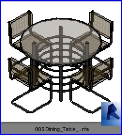 Astounding Revit Families Dining Table Model 2 Rfa 32 Table And Download Free Architecture Designs Remcamadebymaigaardcom