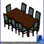 revit families | Dining Table amp 8 Chairs .rf | 32 Table and chairs 7