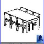 revit families | dining table and chairs.rf | 32 Table and chairs 8