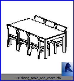 Tremendous Revit Families Dining Table And Chairs Rf 32 Table And Download Free Architecture Designs Remcamadebymaigaardcom