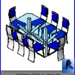 revit families | Dining Table w chairs.rf | 32 Table and chairs 9
