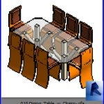 revit families | Dining Table w Chairs .rf | 32 Table and chairs 10