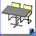 revit families | Dining Table w chairs .rf | 32 Table and chairs 11