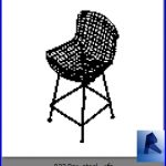 revit families | Bar stool .rf | 33 chairs 22