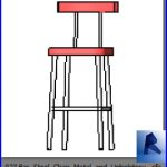 revit families | Bar Stool Chair Metal and Upholstery .rf | 33 chairs 23