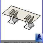 revit families | Dinner Table in Glass and Stone .rf | 33 chairs 43