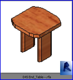Revit Families End Table Model 2 Rfa 33 Chairs 45