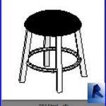 revit families | Stool. .rf | 33 chairs 54