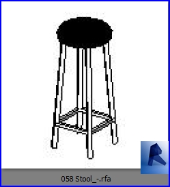Revit Families Stool Model 2 Rfa 33 Chairs 58