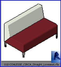 revit families | COALESSE CIRCA Straight Loveseat rf | 35 couch 10
