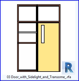 Revit Families Door With Sidelight And Transome Rf 36