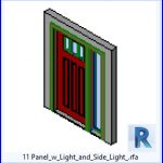 revit families | Panel w Light and Side Light .rf | 36 Doors with window 11