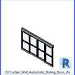 revit families | Curtain Wall Automatic Sliding Door .rf | 37 sliding doors 3