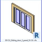 revit families | ICU Sliding door 3 panel SX SX .rf | 37 sliding doors 8