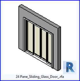 revit families | Pane Sliding Glass Door  rf | 37 sliding